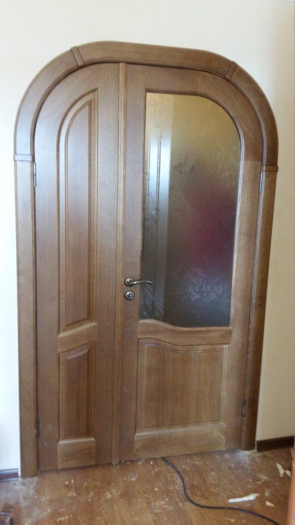 Деревянная арочная дверь на заказ ВоронежДеревянная арочная дверь на заказ Воронеж