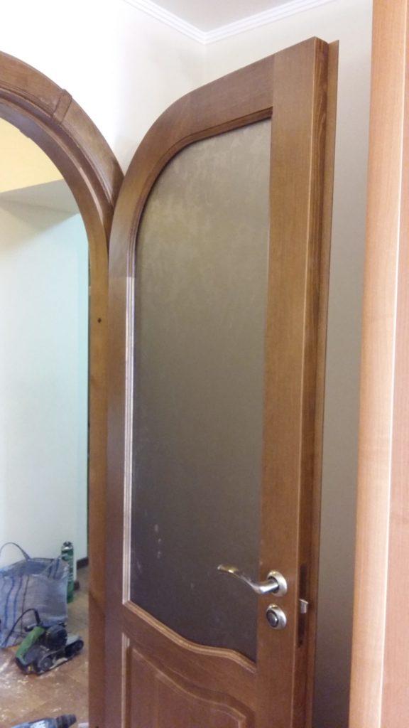 Деревянная арочная дверь под заказ Воронеж