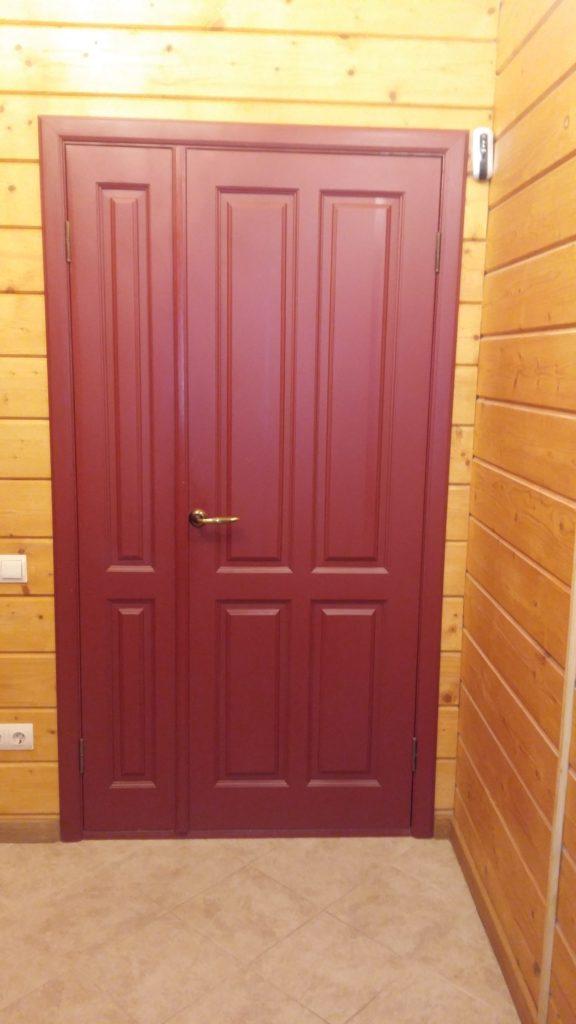 Дверь двустворчатая деревянная Воронеж на заказ